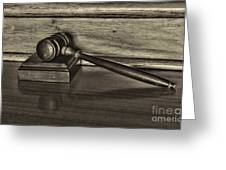 Lawyer - The Gavel Greeting Card by Paul Ward
