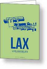 Lax Airport Poster 1 Greeting Card