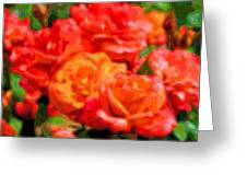 Layer Art Flowers Roses Greeting Card