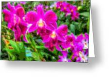 Layer Cut Out Art Flower Orchid Greeting Card