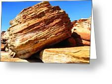 Layered Broome Rock Greeting Card