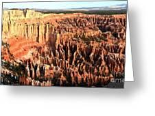 Layered Hoodoos At Bryce Canyon National Park Greeting Card