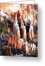 Layers Of Hoodoos And Bluffs Greeting Card