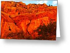 Layers Of Orange Rock Greeting Card