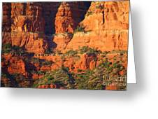 Layers Of Red Rock Greeting Card