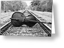 Laying Down Some Tracks Greeting Card by Scott Pellegrin