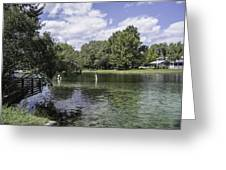 Lazy Day On The Rainbow River Greeting Card