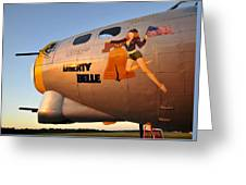 Liberty Belle Sunset Greeting Card