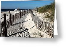 Lbi Dunes Greeting Card by John Rizzuto