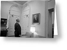 Lbj Looking At Fdr Greeting Card by War Is Hell Store