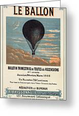 Le Ballon Advertising For French Aeronautical Journal Greeting Card