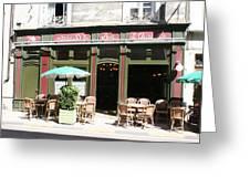 Le Charleston Bar In Tournus Greeting Card