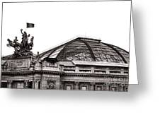 Le Grand Palais Greeting Card by Olivier Le Queinec