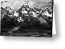 Le Grande Teton And Barn Greeting Card