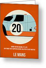 Le Mans Poster Greeting Card by Naxart Studio