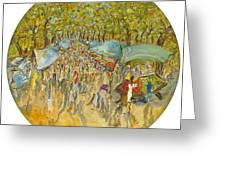 Le Marche De Toulon - Orig. For Sale Greeting Card
