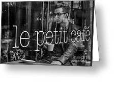le petit cafe' Montreal Greeting Card