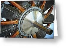 Le Rhone C-9j Engine Greeting Card