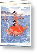 Le Sourire 1930s France Holidays Greeting Card