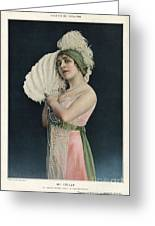Le Theatre 1912 1910s France Mlle Greeting Card by The Advertising Archives