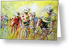 Le Tour De France 07 Acrylics Greeting Card