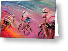 Le Tour De France 16 Acrylics Greeting Card