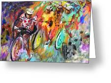 Le Tour De France Madness Greeting Card