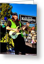 Lead Guitarist Jimmy Dence - The Fabulous Kingpins Greeting Card
