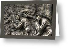 Leading The Way - State Of Delaware Monument Detail-j Gettysburg Greeting Card