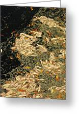 Leaf Abstract Ode To Klimt Greeting Card