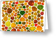 Leaf Collage 2 Greeting Card