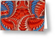 Leaf Pattern In Red Greeting Card