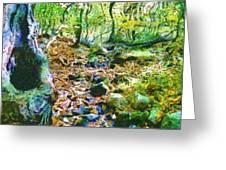 Leaf Stream Greeting Card