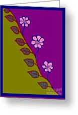 Leaflower Greeting Card by Meenal C