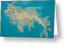 Leafy Sea Dragon Greeting Card by Yabette Swank