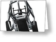 Lean Angle Steering Back View Greeting Card