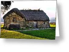 Leanach Cottage Greeting Card