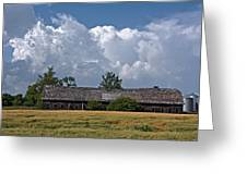Leaning Barn Greeting Card