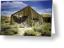 Leaning Barn Of Bodie California Greeting Card
