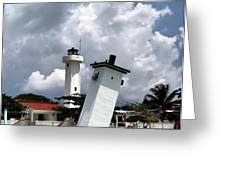 Leaning Lighthouse Of Mexico Greeting Card