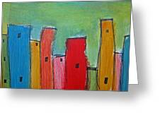 Leaning Towers Greeting Card