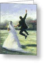 Leap Of Love Greeting Card