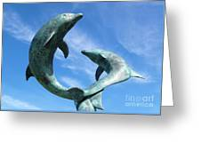 Leaping Dolphins In The Isles Of Scilly Greeting Card