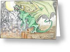 Leaping Dragon Greeting Card