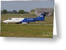 Learjet Used For Simulating Enemy Greeting Card