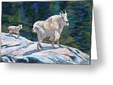 Learning To Walk On The Edge Greeting Card