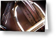 Leather And Iron Greeting Card