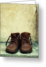 Leather Children Boots Greeting Card