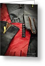 Leather Gloves Greeting Card