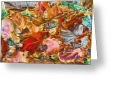 Leaves Abstraction I   Greeting Card